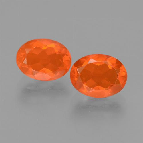 Orange Fire Opal Gem - 0.8ct Oval Facet (ID: 453964)