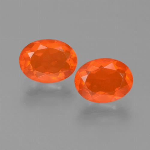 Orange Fire Opal Gem - 0.8ct Oval Facet (ID: 453970)