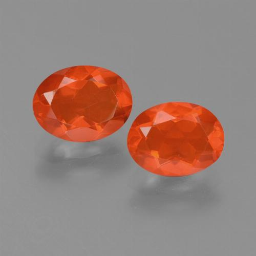0.8ct Oval Facet Orange Fire Opal Gem (ID: 453973)