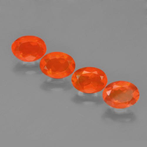 0.5ct Oval Facet Orange Fire Opal Gem (ID: 454033)