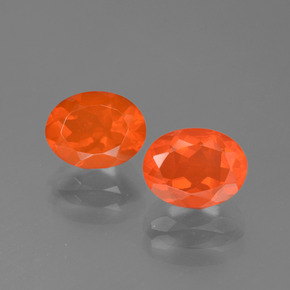 Orange Fire Opal Gem - 1ct Oval Facet (ID: 454116)
