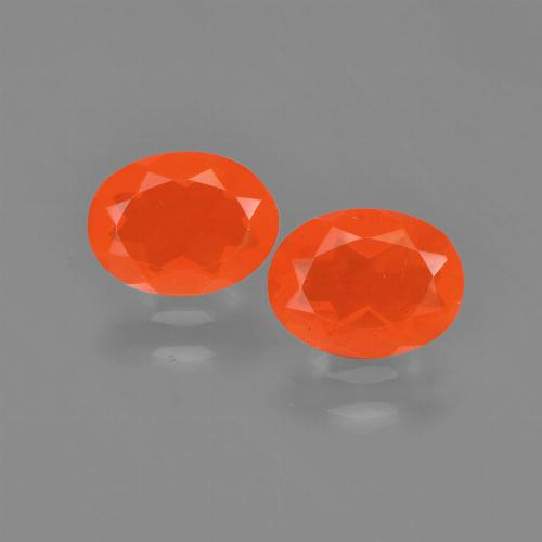 0.6ct Oval Facet Deep Reddish Orange Fire Opal Gem (ID: 454174)
