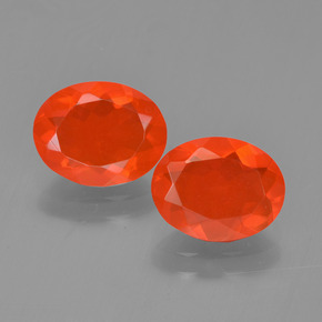 Medium Red Fire Opal Gem - 0.9ct Oval Facet (ID: 454299)
