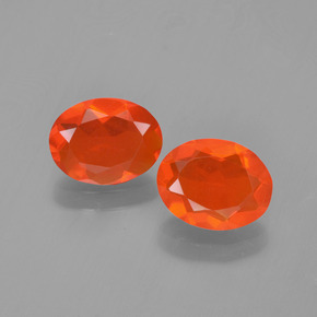 Medium Orange Fire Opal Gem - 0.6ct Oval Facet (ID: 454306)