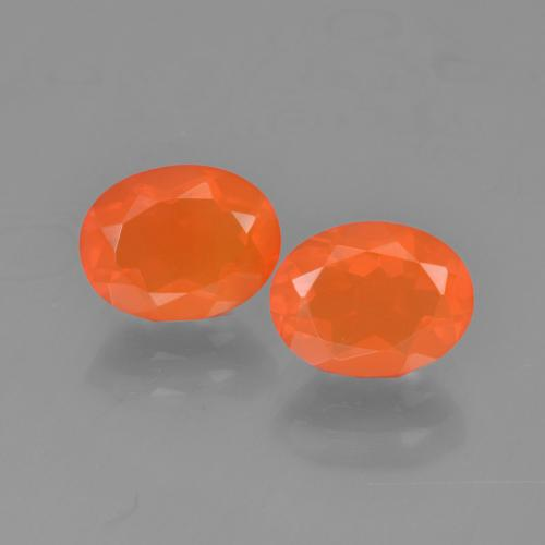 0.9ct Oval Facet Orange Fire Opal Gem (ID: 454308)