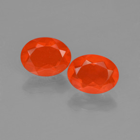 Intense Red Orange Ópalo de Fuego Gema - 0.7ct Forma ovalada (ID: 454423)