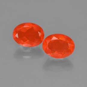 0.8ct Oval Facet Orange Fire Opal Gem (ID: 454424)