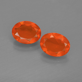 Orange Fire Opal Gem - 0.7ct Oval Facet (ID: 454429)