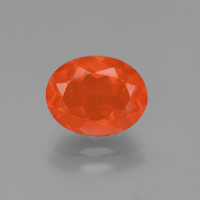 Orange Fire Opal Gem - 1.3ct Oval Facet (ID: 454523)