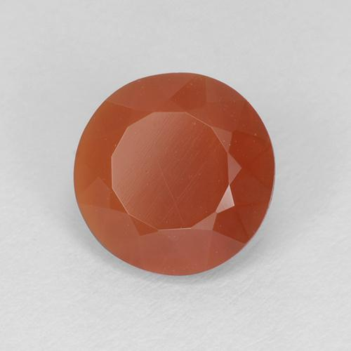 Reddish Orange Fire Opal Gem - 1.2ct Round Facet (ID: 511811)