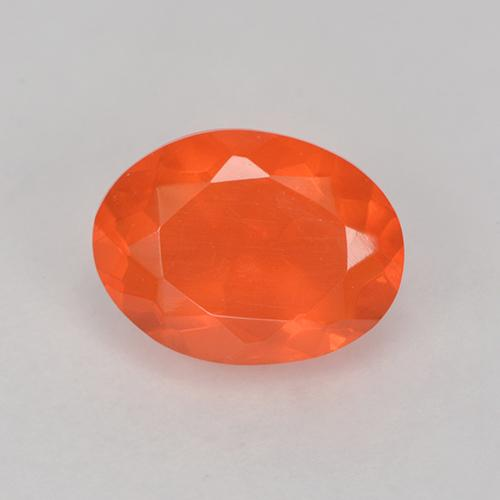 Bright Orange Fire Opal Gem - 1ct Oval Facet (ID: 524688)