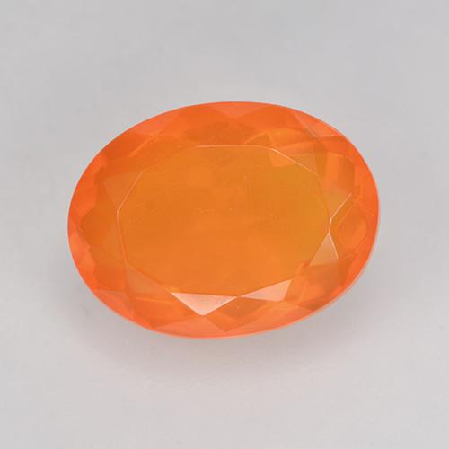 Orange Fire Opal Gem - 2.6ct Oval Facet (ID: 525043)