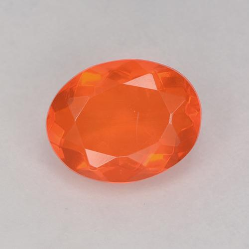 Orange Fire Opal Gem - 0.8ct Oval Facet (ID: 525339)