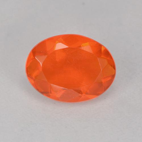 Medium Orange Fire Opal Gem - 0.6ct Oval Facet (ID: 525561)