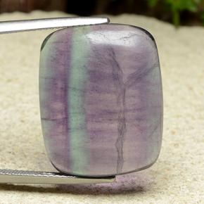 Multicolor Fluorite Gem - 21.8ct Cushion Cabochon (ID: 486485)