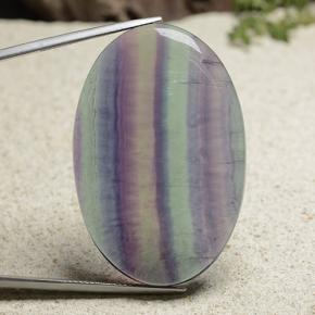 thumb image of 84.5ct Oval Cabochon Multicolor Fluorite (ID: 486593)