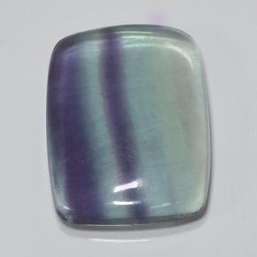 Multicolor Fluorite Gem - 39.9ct Cushion Cabochon (ID: 486611)
