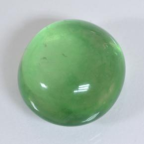 thumb image of 29.2ct Oval Cabochon Green Fluorite (ID: 493921)