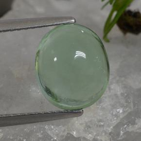 thumb image of 4.7ct Oval Cabochon Green Fluorite (ID: 493929)