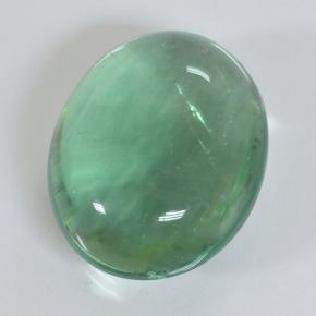 Green Fluorite Gem - 25.3ct Oval Cabochon (ID: 496595)