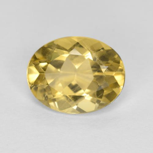 Light Golden-Yellow بيريل ذهبى حجر كريم - 1.5ct وجه بيضاوى (ID: 305285)