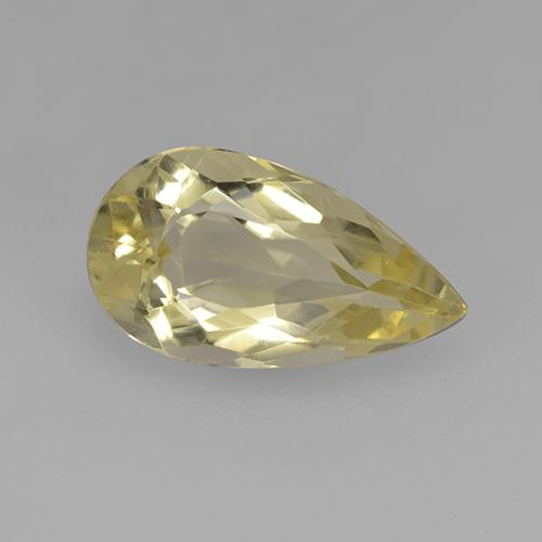 Pale Yellow 金绿柱石 Gem - 2.7ct 梨形切面 (ID: 352578)