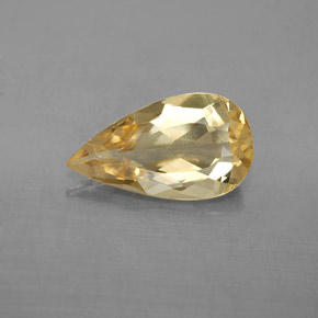 2.63 ct Pear Facet Golden Golden Beryl Gemstone 14.04 mm x 8 mm (Product ID: 352579)