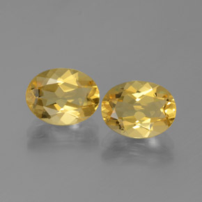Medium Golden بيريل ذهبى حجر كريم - 1.7ct وجه بيضاوى (ID: 375886)