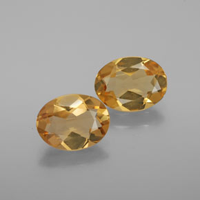 Medium Orange Béryl doré gemme - 1.3ct Ovale facette (ID: 376159)