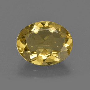 2.58 ct Oval Facet Golden Golden Beryl Gemstone 11.09 mm x 8.8 mm (Product ID: 422722)