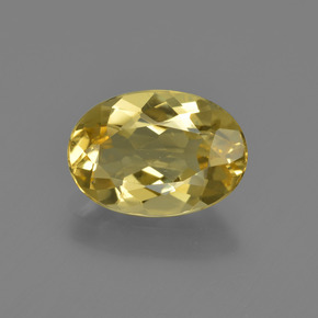 Tuscany Yellow بيريل ذهبى حجر كريم - 1.9ct وجه بيضاوى (ID: 422839)