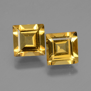 Yellow Golden Golden Beryl Gem - 1.4ct Square Facet (ID: 436014)