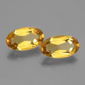 gold-orange Goldener Beryll Edelstein - 2.3ct Oval facettiert (ID: 436038)