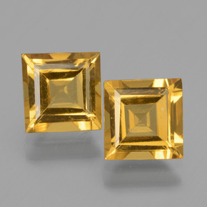 Yellow Golden Golden Beryl Gem - 1.4ct Square Facet (ID: 436127)