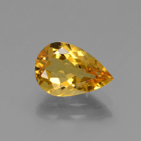 1.64 ct Pear Facet Yellow Golden Golden Beryl Gemstone 10.05 mm x 6.8 mm (Product ID: 436177)