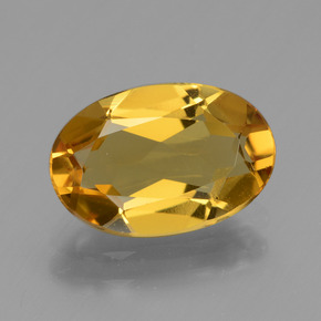 2.1ct Oval Facet Yellow Golden Golden Beryl Gem (ID: 436300)