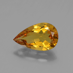 1.65 ct Pear Facet Yellow Golden Golden Beryl Gemstone 11.18 mm x 6.9 mm (Product ID: 436318)