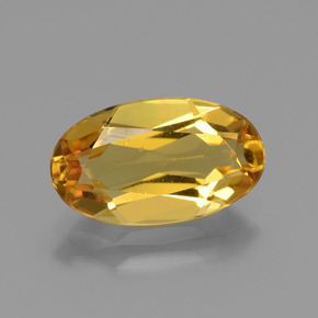 Dark Golden بيريل ذهبى حجر كريم - 2.3ct وجه بيضاوى (ID: 436325)