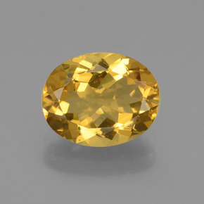 2.30 ct Oval Facet Yellow Golden Golden Beryl Gemstone 10.10 mm x 8.1 mm (Product ID: 436327)