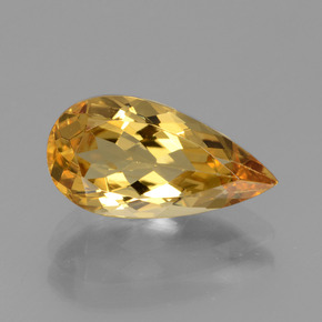 2.49 ct Pear Facet Yellow Golden Golden Beryl Gemstone 12.80 mm x 6.7 mm (Product ID: 436418)