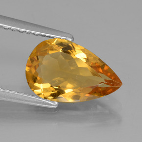 1.68 ct Pear Facet Yellow Golden Golden Beryl Gemstone 11.02 mm x 7.1 mm (Product ID: 436634)