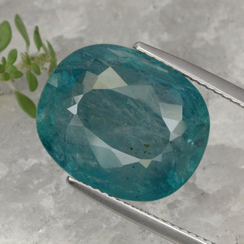Bluish Green Grandidierite Gem - 14ct Oval Facet (ID: 470658)