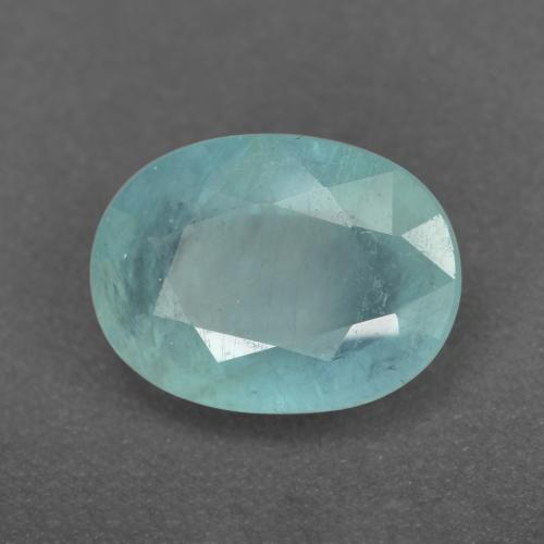 Greenish-Blue Grandidierite Gem - 1.4ct Oval Facet (ID: 471928)
