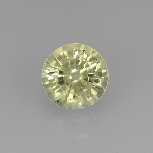 Greenish Golden Grossularite Garnet Gem - 0.7ct Round Facet (ID: 504774)