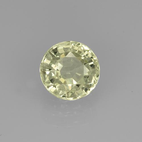 Golden Green Grossularite Garnet Gem - 0.8ct Round Facet (ID: 504775)