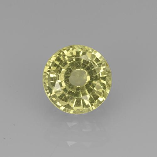 Greenish Golden Grossularite Garnet Gem - 0.7ct Round Facet (ID: 504777)