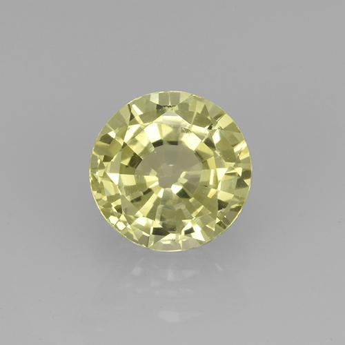 Lemon Grossularite Garnet Gem - 0.8ct Round Facet (ID: 504780)