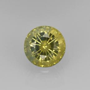 Golden Green Grossularite Garnet Gem - 1ct Round Facet (ID: 504782)
