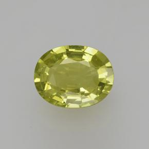 Golden Green Grossularite Garnet Gem - 1.3ct Oval Facet (ID: 504789)