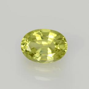 Golden Green Grossularite Garnet Gem - 1.1ct Oval Facet (ID: 504791)